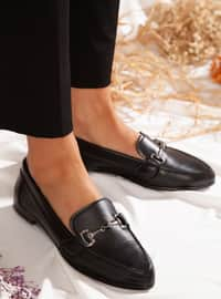 Flat - Casual - Black - Casual Shoes