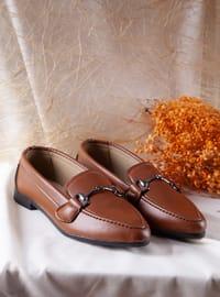 Flat - Casual - Tan - Casual Shoes
