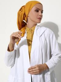 White - Unlined - - Abaya