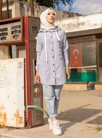 Blue - Stripe - Tunic