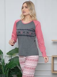 Smoke - Crew neck -  - Pyjama Set