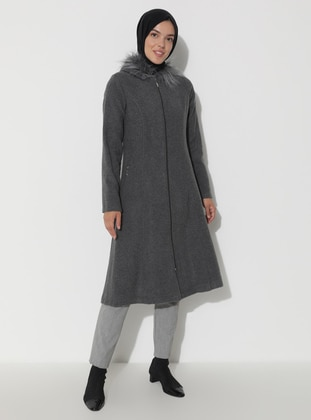Gray - Unlined - Coat
