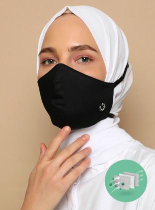 Black - Black - Cotton - Black - Mask - Tuva