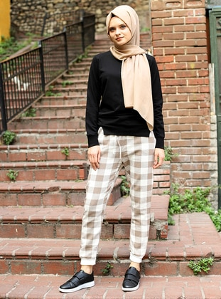Mink - Checkered - Acrylic -  - Pants