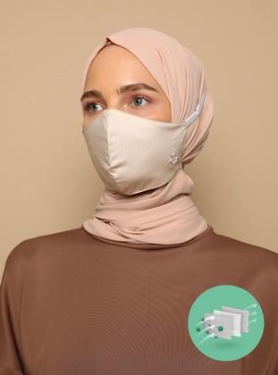 Cotton -  - Beige - Mask - Tuva Maske