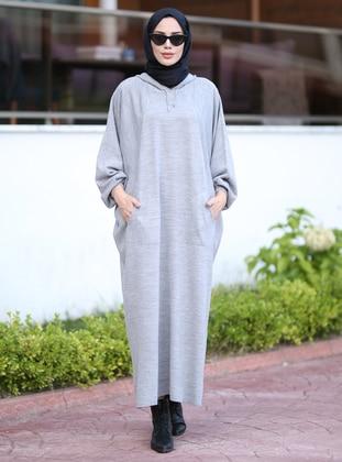 Gray - Unlined - Knit Tunics