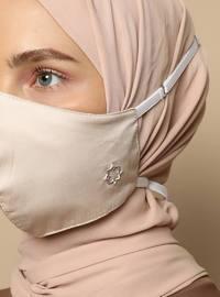 Beige - Cotton - Cotton - Beige - Mask