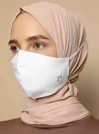 Cotton -  - White - Mask