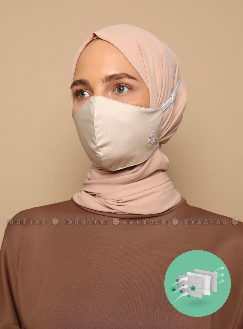 Cotton -  - Beige - Mask
