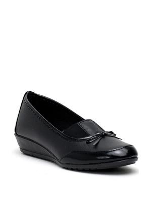 Black - Flat - Casual - Flat Shoes - Ayakkabı Modası