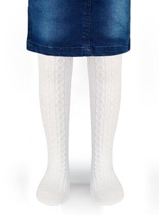 White - Girls` Socks - Civil