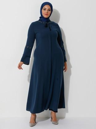 Petrol - Crew neck - Plus Size Abaya