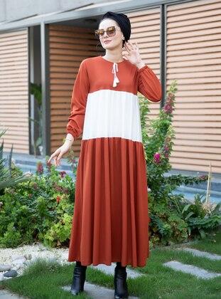 Terra Cotta - Crew neck - Dress