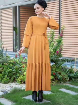 Mustard - Crew neck - Dress