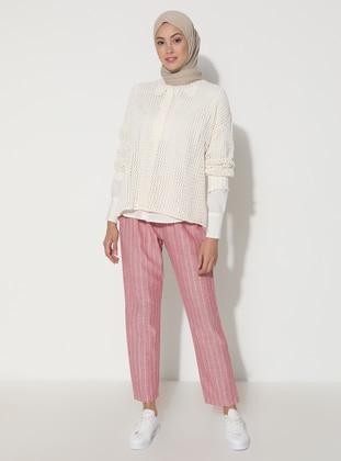 Coral - Stripe -  - Viscose - Pants