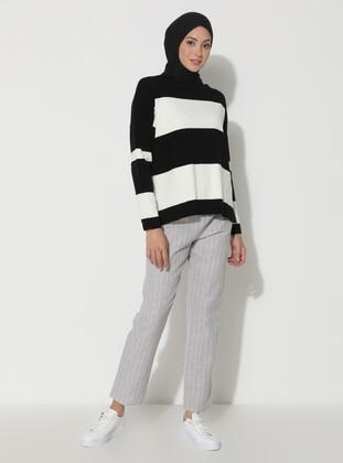 Stone - Stripe -  - Viscose - Pants