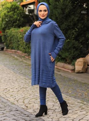 Indigo - Acrylic - - Knit Suits
