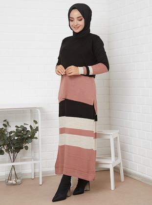 Powder - Stripe - Unlined - Acrylic -  - Wool Blend - Knit Suits