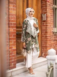 Khaki - Multi - Unlined - Shawl Collar - Topcoat