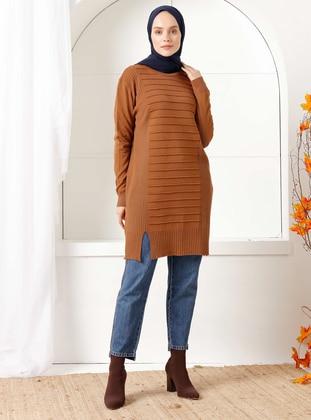 Cinnamon - Crew neck - Knit Tunics