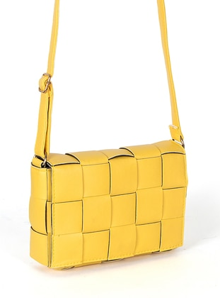 Yellow - Satchel - Shoulder Bags