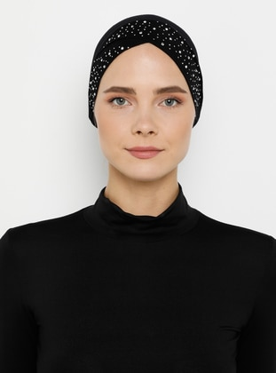 Black - Plain - Simple - Bonnet