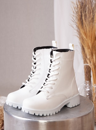 White - Boot - Boots - Ayakkabı Havuzu