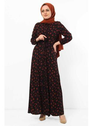Maroon - Modest Dress