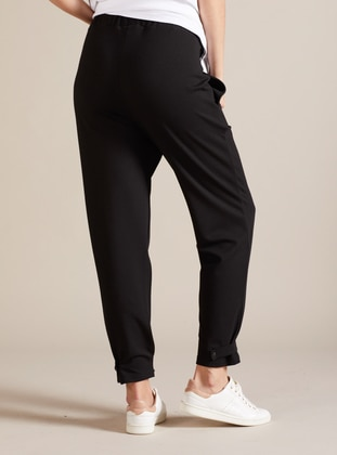Black - Viscose - Unlined - Maternity Pants