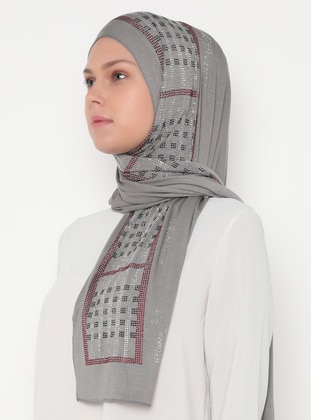 Smoke - Plain - Combed Cotton - Shawl