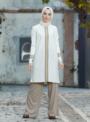 Stone - Mink - Unlined - Acrylic -  - Suit