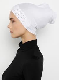 White - Plain - Simple - Bonnet