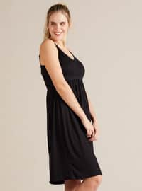 Black - Viscose - Maternity Pyjamas