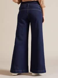 Blue - Denim -  - Unlined - Maternity Pants