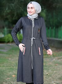 Black - Viscose - Tracksuit Set - MODANARİN