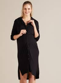 Black - Viscose - Maternity Pyjamas