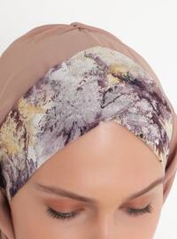 Purple - Printed - Pinless - Shawl