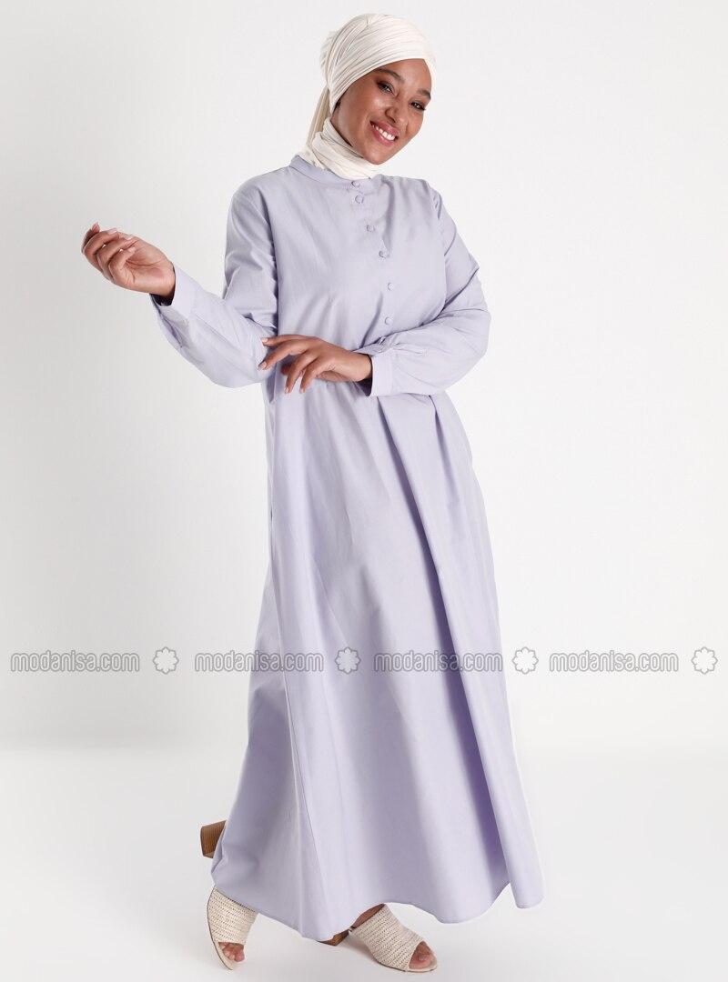 Oversize Pocket Detailed Oversize Dress - Dusty Lilac