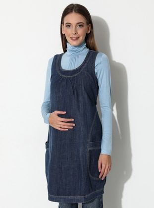 Blue - Maternity Dress
