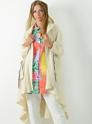 Beige - Fully Lined -  - Puffer Jackets