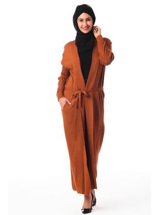 Terra Cotta - Unlined - Acrylic -  - Knit Cardigans