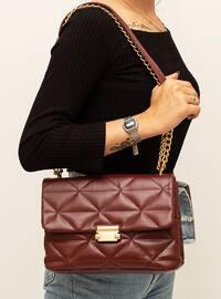 Maroon - Crossbody - Satchel - Shoulder Bags