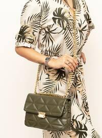 Khaki - Crossbody - Satchel - Shoulder Bags