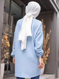 Baby Blue - Point Collar -  - Tunic