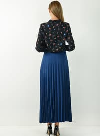 Indigo - Unlined - Viscose - Skirt