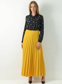 Yellow - Unlined - Viscose - Skirt