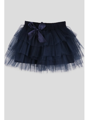 Navy Blue - Girls` Skirt