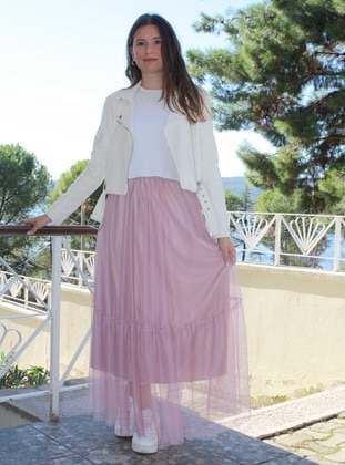 Lilac - Unlined - - Skirt