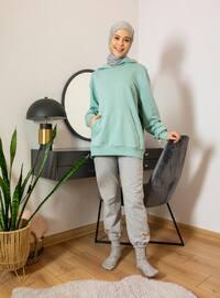 Gray - Acrylic - - Pants