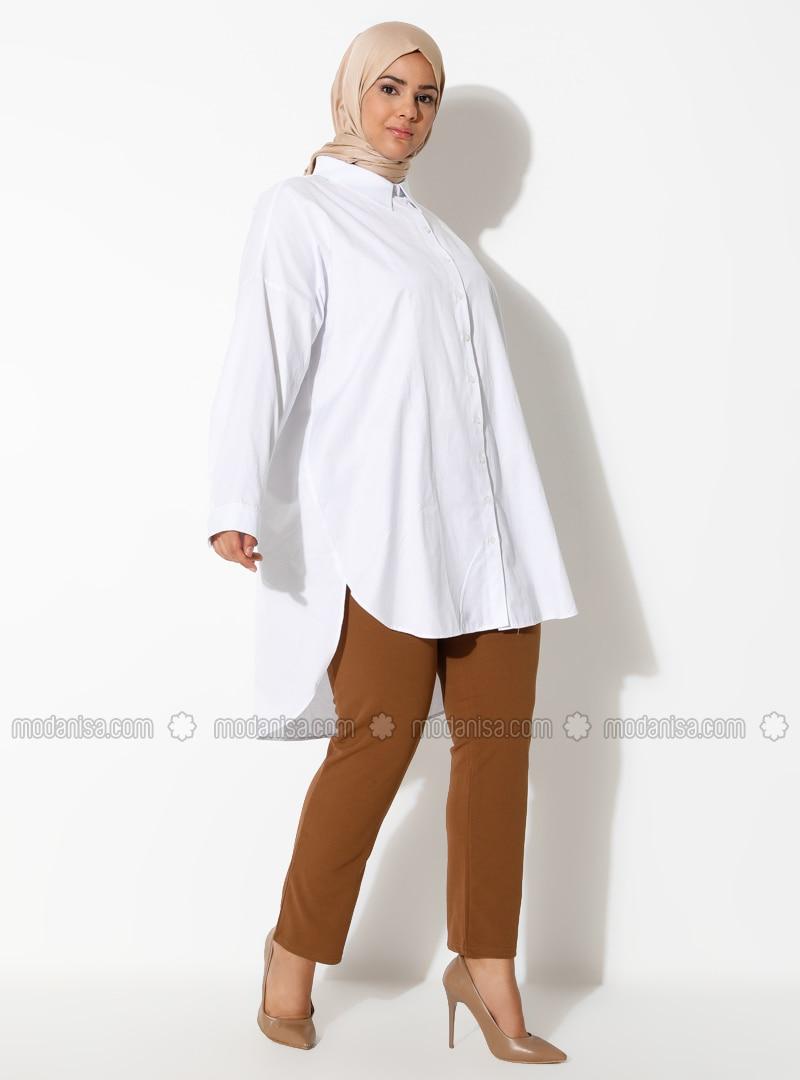 Brown - Plus Size Pants